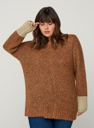 MIT WOLLE - Maglione - camel