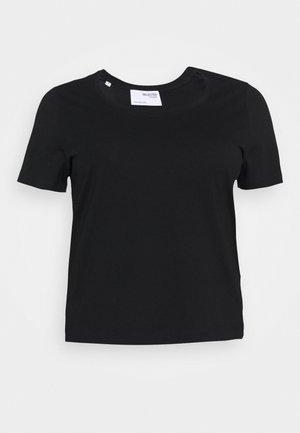 SLFANDARD U-NECK TEE - T-shirt basic - black