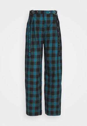 VEX PANT - Trousers - teal/lime/black