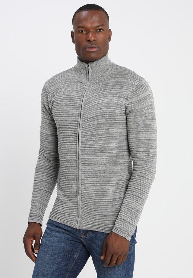Struan Zip - Vest - grey melange