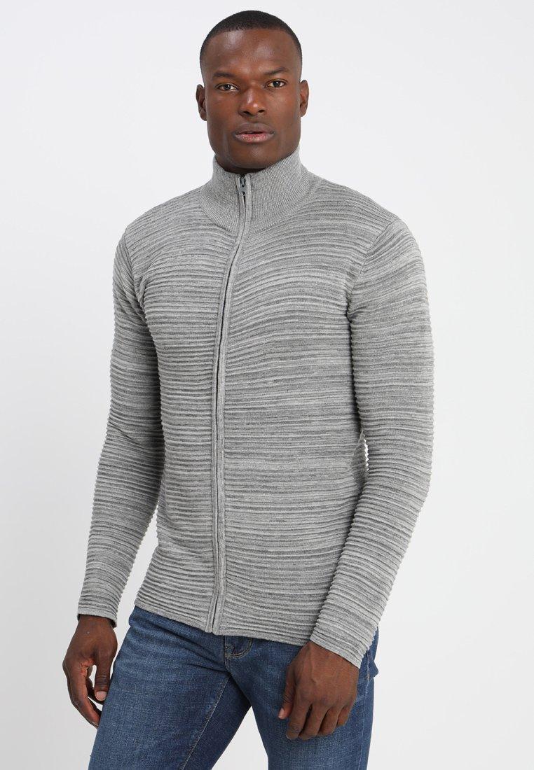 Solid - Struan Zip - Neuletakki - grey melange
