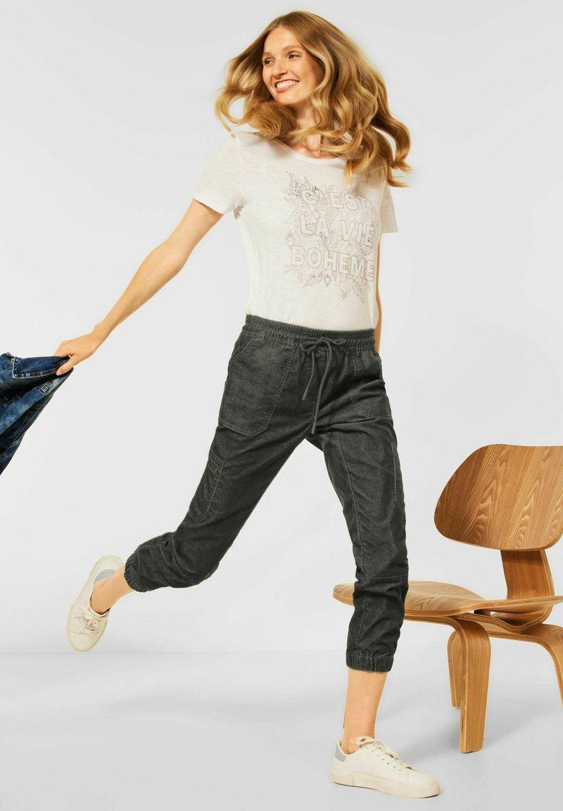 Cecil - LOOSE FIT  - Trousers - grün