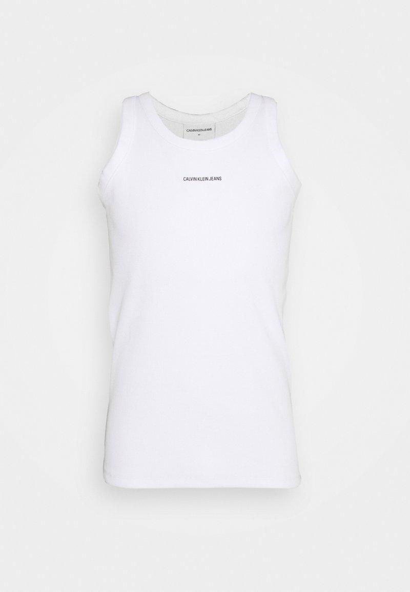 Calvin Klein Jeans - MICRO BRANDING TANK - Top - bright white