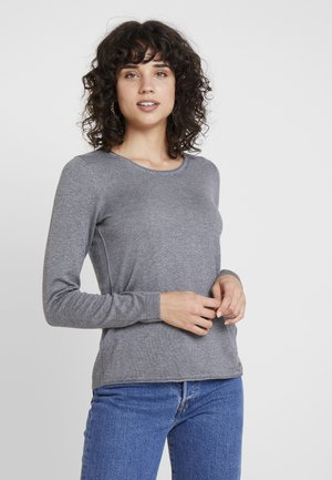 BASIC NECK - Jumper - gunmetal