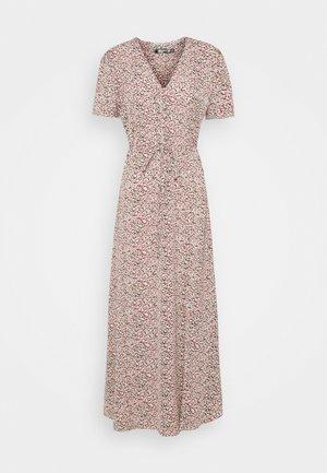 HALF BUTTON TEA DRESS - Maxi dress - blush