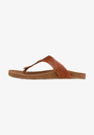 T-bar sandals - mittelbraun