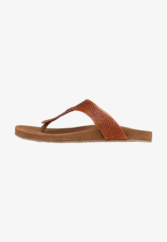 T-bar sandals - mittelbraun