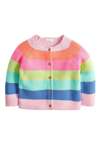 MULTI FLURO RAINBOW STRIPE CARDIGAN (3MTHS-7YRS)