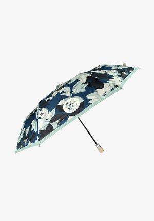 AUTOMATIC UMBRELLA WITH LEAVES - Umbrella - blu