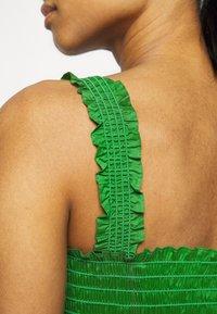 Tory Burch - SMOCKED RUFFLE DRESS - Day dress - resort green - 4