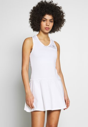 COURT - Jersey dress - optical white