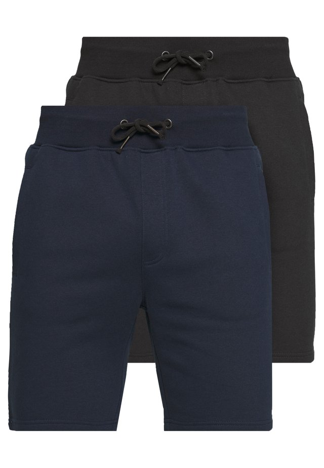 2 PACK - Shorts - dark blue/black