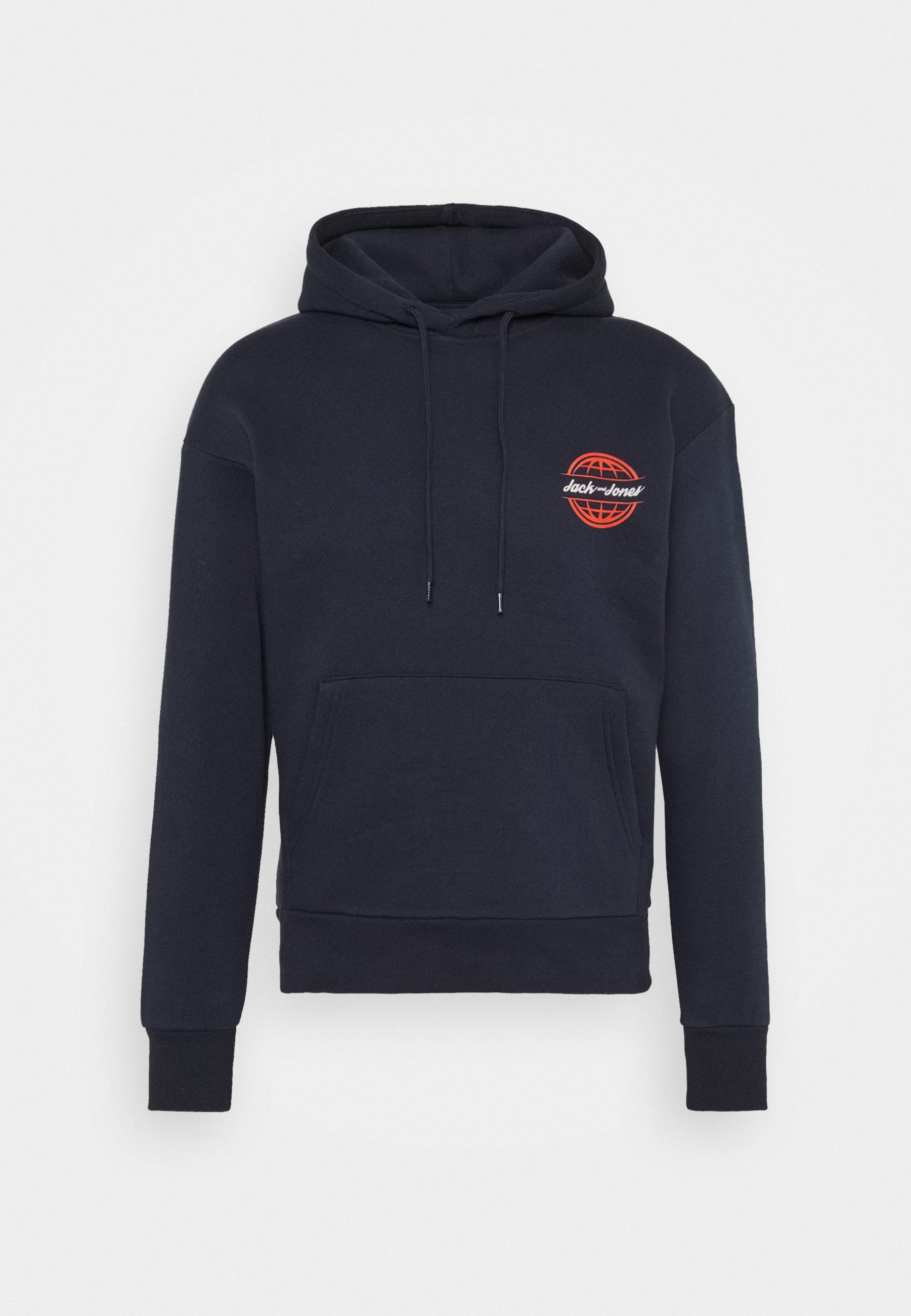 Men JORCOLTON BACKPRINT HOOD - Sweatshirt