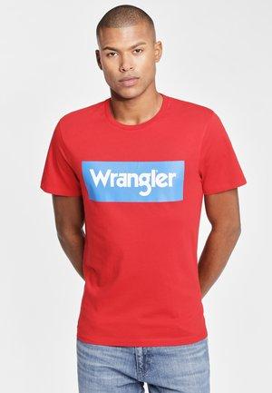 Print T-shirt - formula red