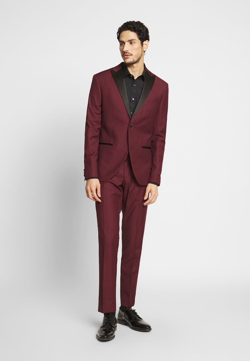 Isaac Dewhirst - TUX - Kostym - bordeaux