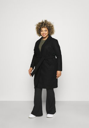 CARTRILLION LONG BELT COATIGAN - Classic coat - black
