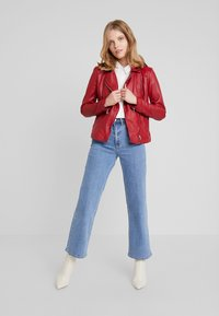 Ibana - WAVES - Leather jacket - red - 1