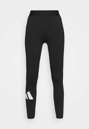 ADILIFE - Leggings - black/black/white