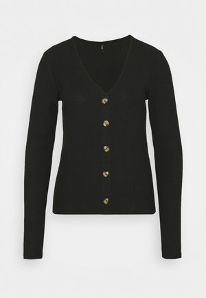 ONLNELLA BUTTON - Long sleeved top - black