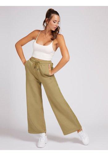 WIDE LEG PANTS - Tracksuit bottoms - beige