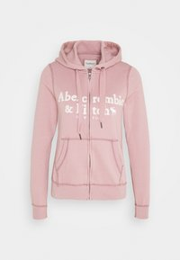 Abercrombie & Fitch - LONG LIFE FULL ZIP - Zip-up hoodie - pink - 3