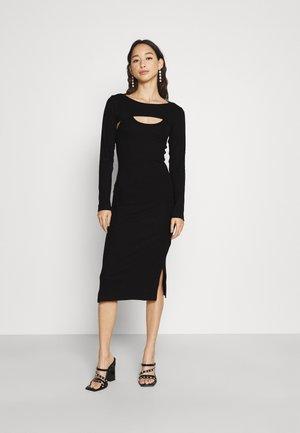 MINI DOYCON DRESS WITH DETEACHABLE LONG SLEEVES SET - Pouzdrové šaty - black