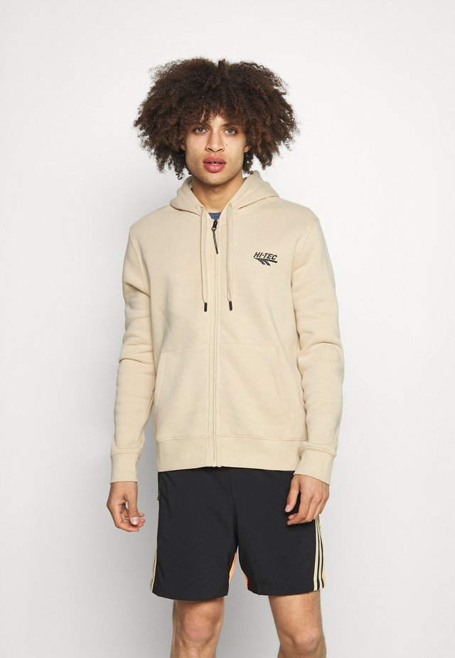 ALVAH BASIC ZIP HOODIE - veste en sweat zippée - pebble