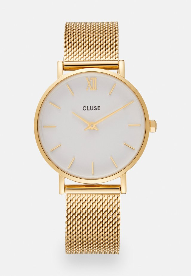 MINUIT - Horloge - gold-coloured/white