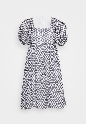 BRODERIE CHUCKON - Denní šaty - black/white
