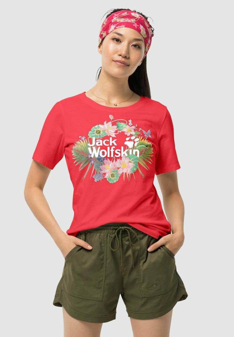 Jack Wolfskin - PARADISE - Print T-shirt - red