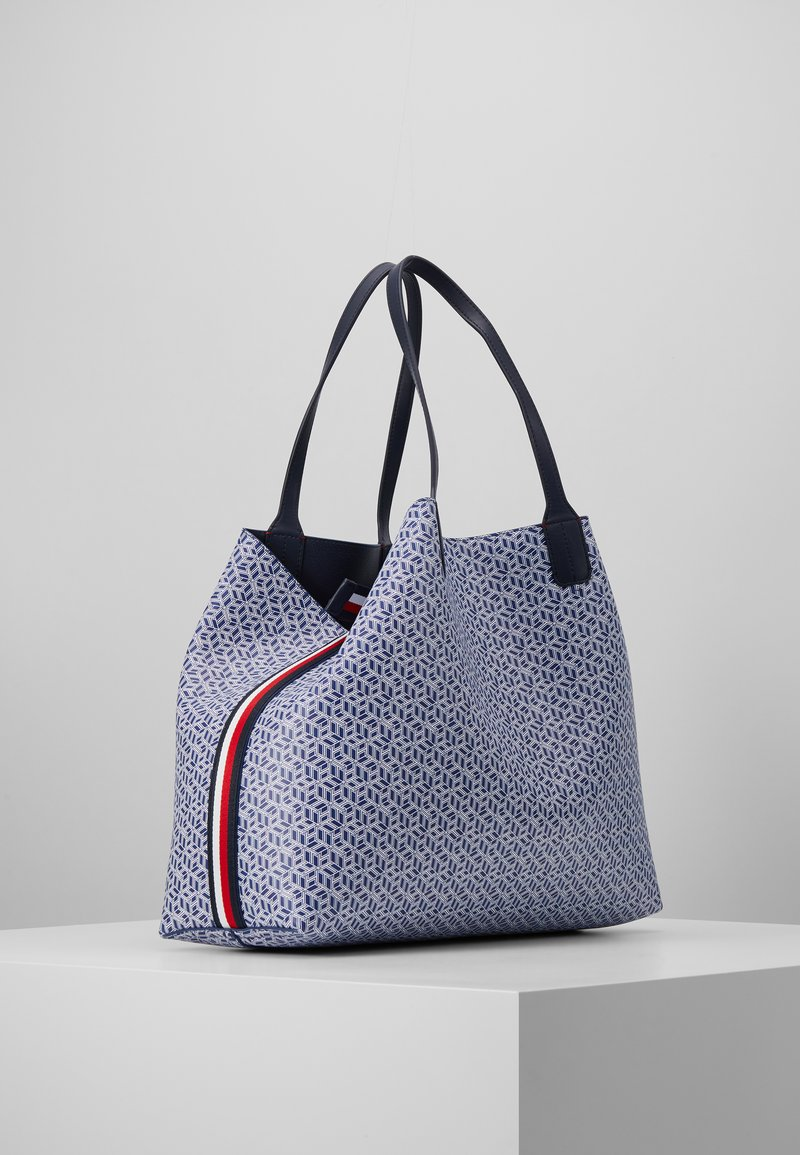 Tommy Hilfiger - ICONIC TOTE MONOGRAM - Tote bag - blue