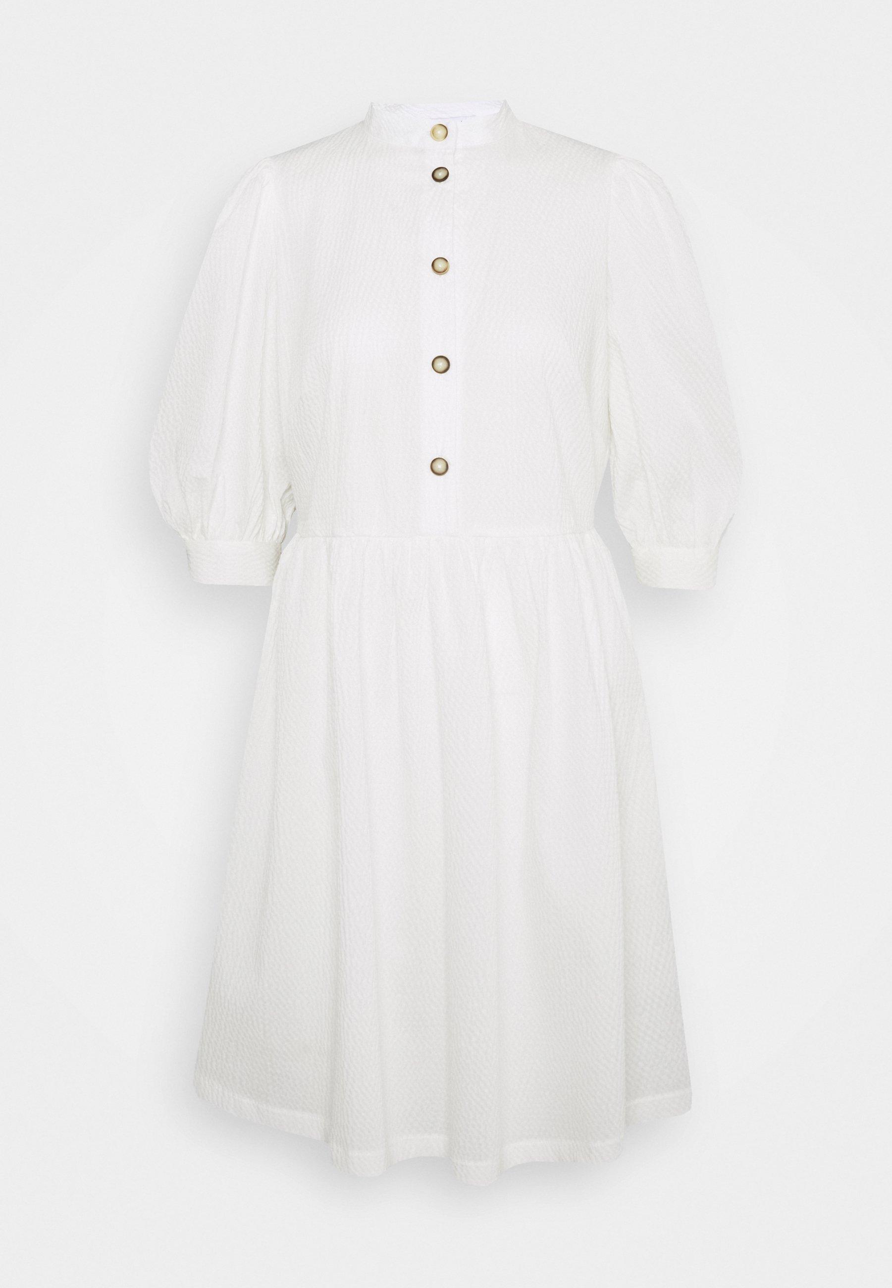 Women GATHERED SKIRT SHIRT DRESS - Day dress