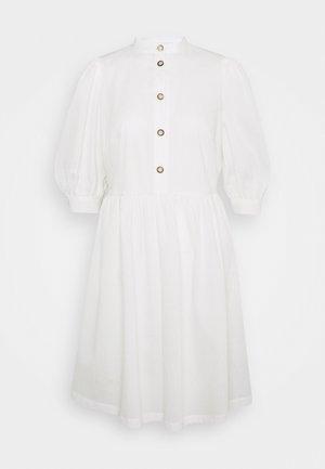 GATHERED SKIRT SHIRT DRESS - Jurk - ivory