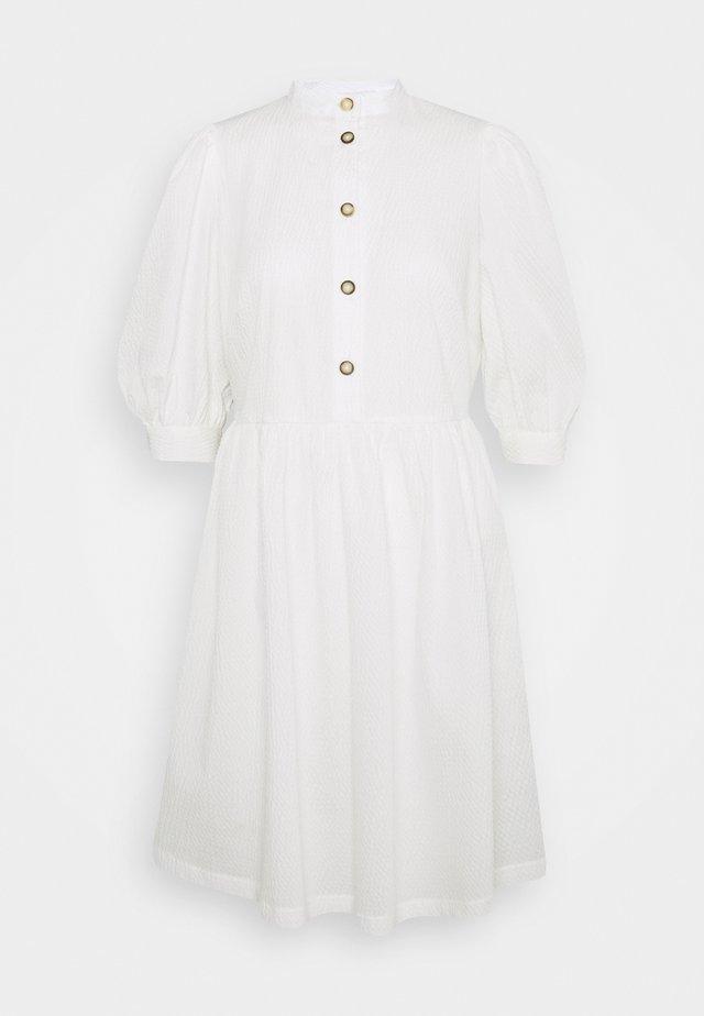 GATHERED SKIRT SHIRT DRESS - Korte jurk - ivory