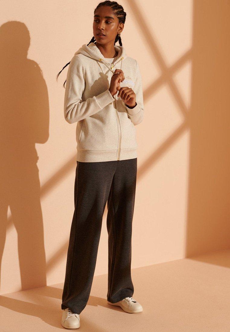 Superdry - Zip-up hoodie - oatmeal marl