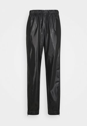 UNISEX - Trousers - shiny black