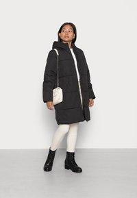 VILA PETITE - VITRUST  LONG JACKET - Winter coat - black - 1