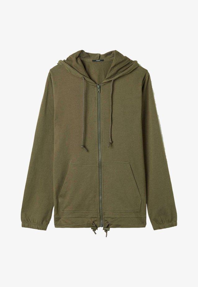 Zip-up hoodie - verde kaki