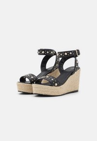 maje - Sandały na platformie - noir - 2