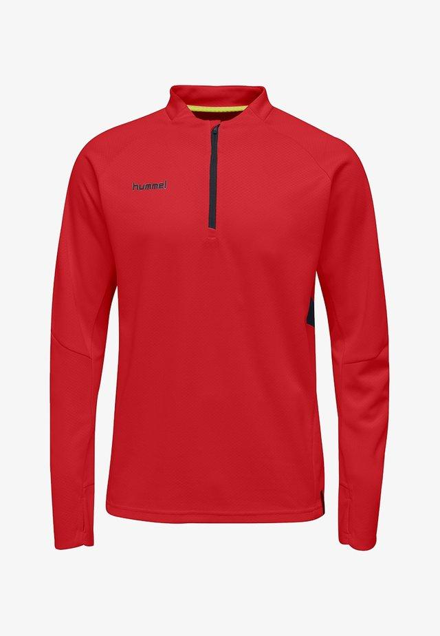 Long sleeved top - true red
