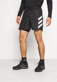 adidas Performance - AGRAVIC SHORT 2-IN-1  - Sports shorts - black/white - 0
