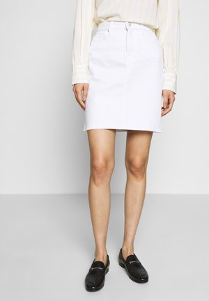 ROME STRAIGHT SKIRT - Denim skirt - white