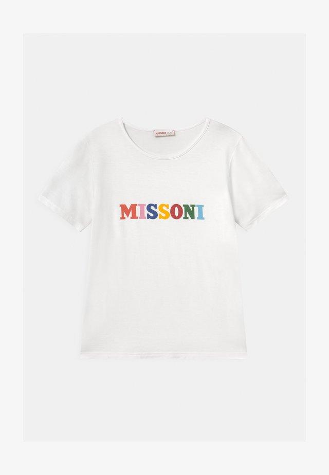 MANICA CORTA - T-shirt con stampa - white