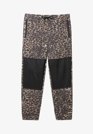 MN POLAR FLEECE PANT - Tracksuit bottoms - leopard print