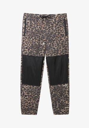 MN POLAR FLEECE PANT - Spodnie treningowe - leopard print