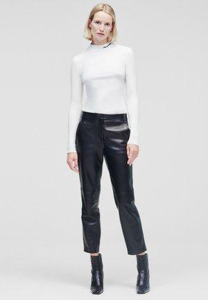TAILORED - Kožené kalhoty - black