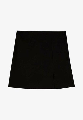 MIT SCHLITZ - A-lijn rok - black