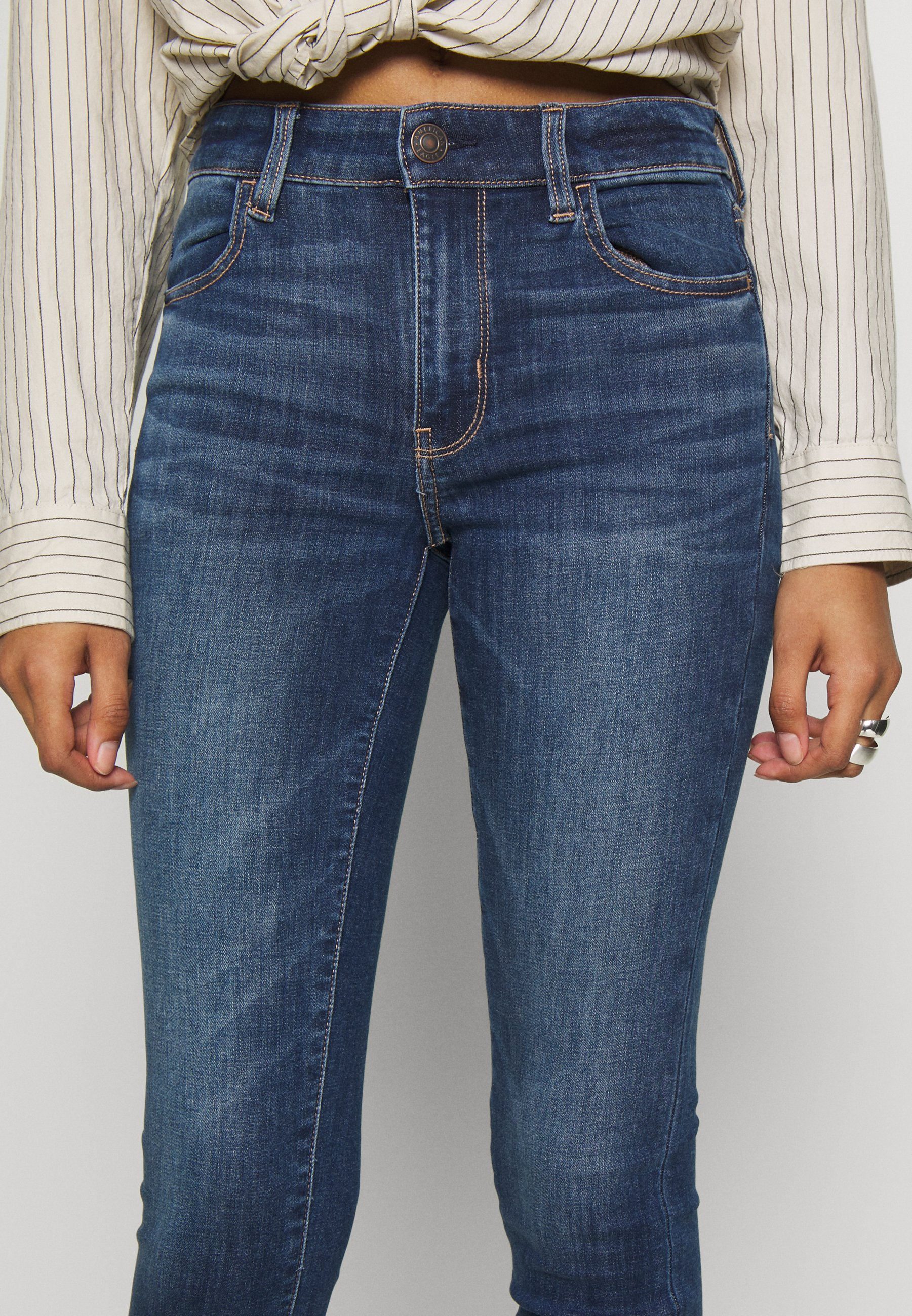 American Eagle HIGH RISE CROP - Jeans Skinny - medium wash - Jeans Femme AEt2p