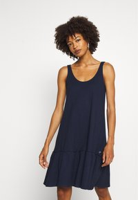 TOM TAILOR DENIM - DRESS WITH BACK DETAIL - Jersey dress - real navy blue - 0