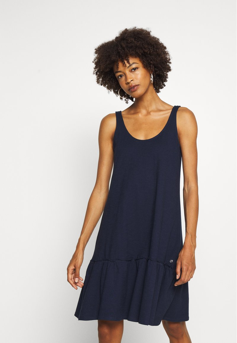 TOM TAILOR DENIM - DRESS WITH BACK DETAIL - Jersey dress - real navy blue